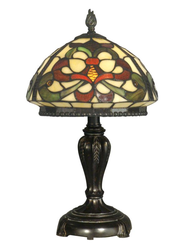 Dale Tiffany TT10065 Victorian 1 Light Tiffany Table Lamp with Art