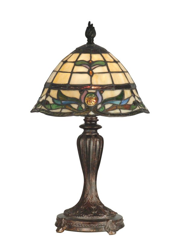 Dale Tiffany TT10087 Victorian 1 Light Tiffany Table Lamp with Art