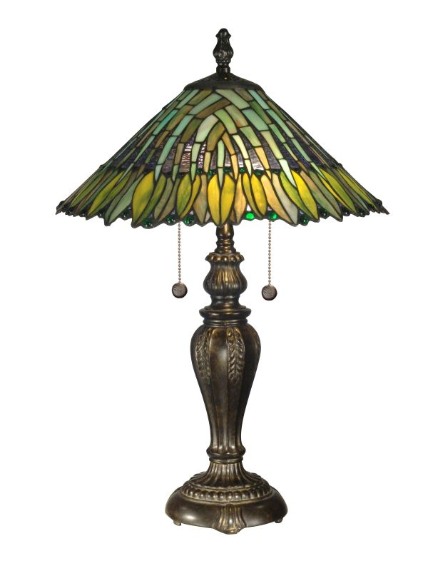 "Dale Tiffany TT100914 24"" Leavesley Table Lamp with 2 Lights"