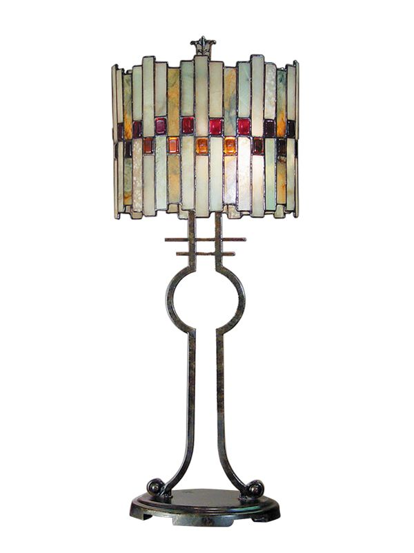 "Dale Tiffany TT101014 Haskey 31"" Tiffany Table Lamp Antique Black"