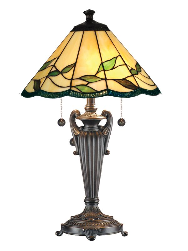 "Dale Tiffany TT101118 26"" Falhouse Table Lamp with 2 Lights Antique"