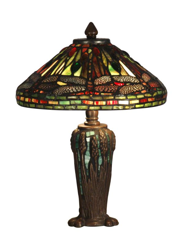 Dale Tiffany TT10333 Dragonfly Jewel Tiffany Table Lamp with 2 Lights