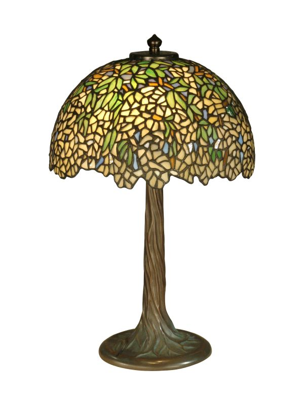Dale Tiffany TT10335 Wisteria Tiffany Table Lamp with 2 Lights Antique