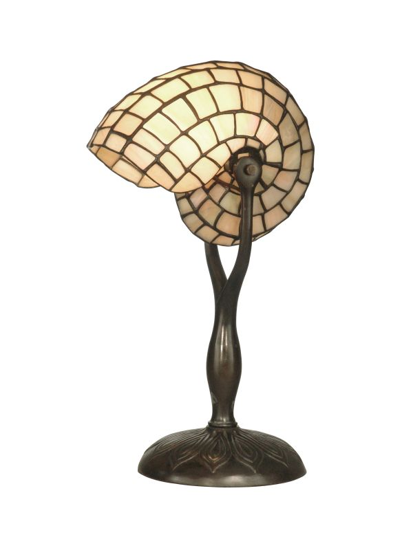 Dale Tiffany TT10346 Nautilus Snail Table Lamp with 1 Light Antique