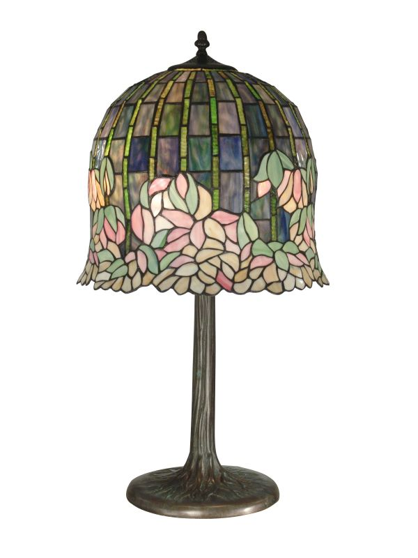 Dale Tiffany TT10379 Victorian 2 Light Flowering Lotus Table Lamp with