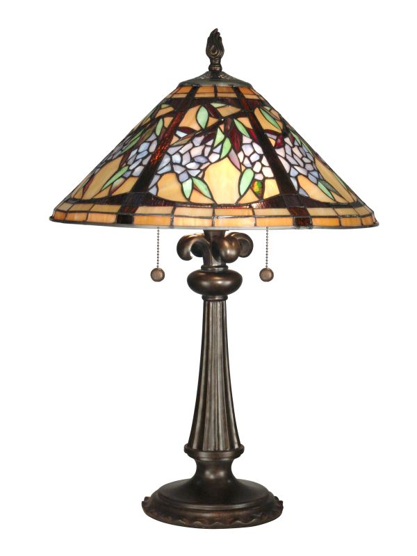 Dale Tiffany TT10526 Floral Branch Tiffany Table Lamp with 2 Lights