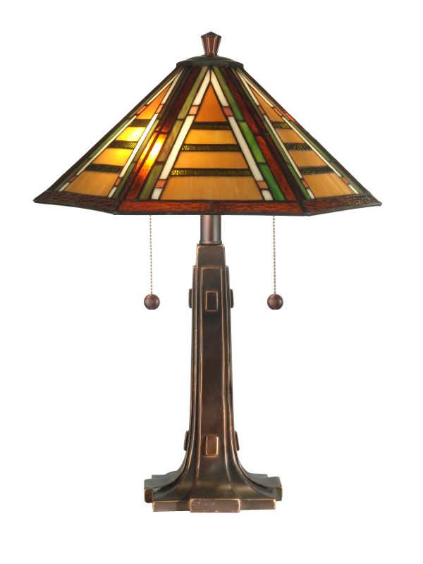 Dale Tiffany TT11049 Grueby Tiffany Table Lamp with 2 Lights Antique