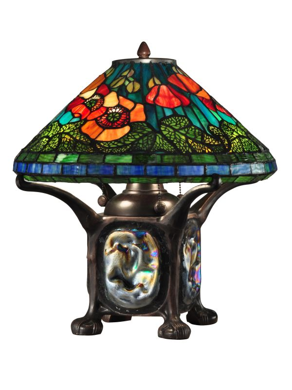 Dale Tiffany TT12329 Poppy 4 Light Table Lamp Dark Antique Bronze Sale $589.99 ITEM: bci2281235 ID#:TT12329 UPC: 20258118166 :