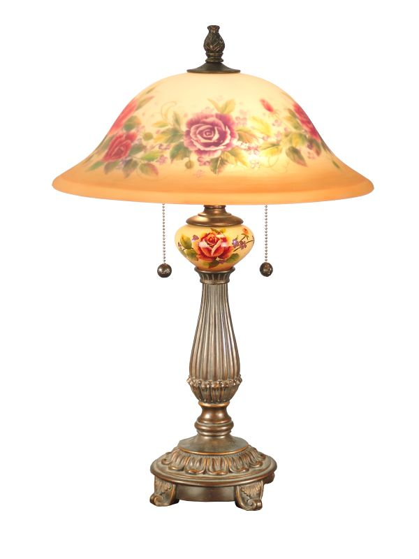"Dale Tiffany TT60034 16"" x 24"" Rose Porcelain Table Lamp from the"