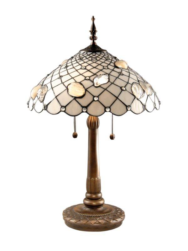 "Dale Tiffany TT60055 26"" Tiffany Shells Table Lamp with 2 Lights"