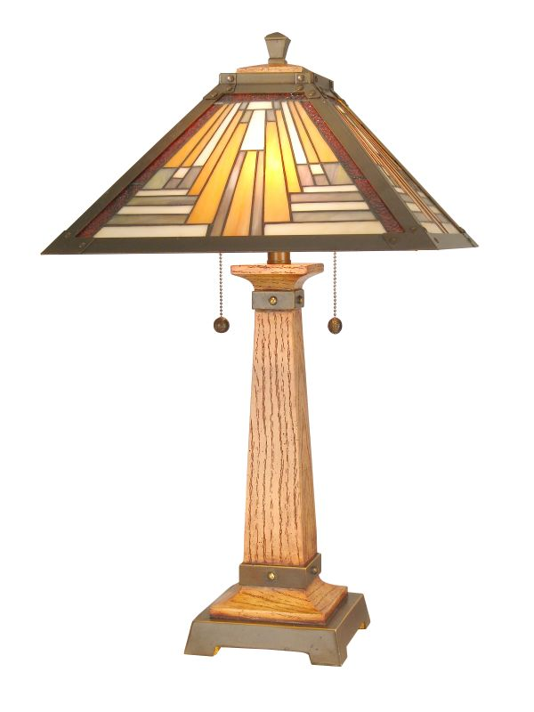 "Dale Tiffany TT60287 26.75"" Thunder Table Lamp with 2 Lights Woerma"