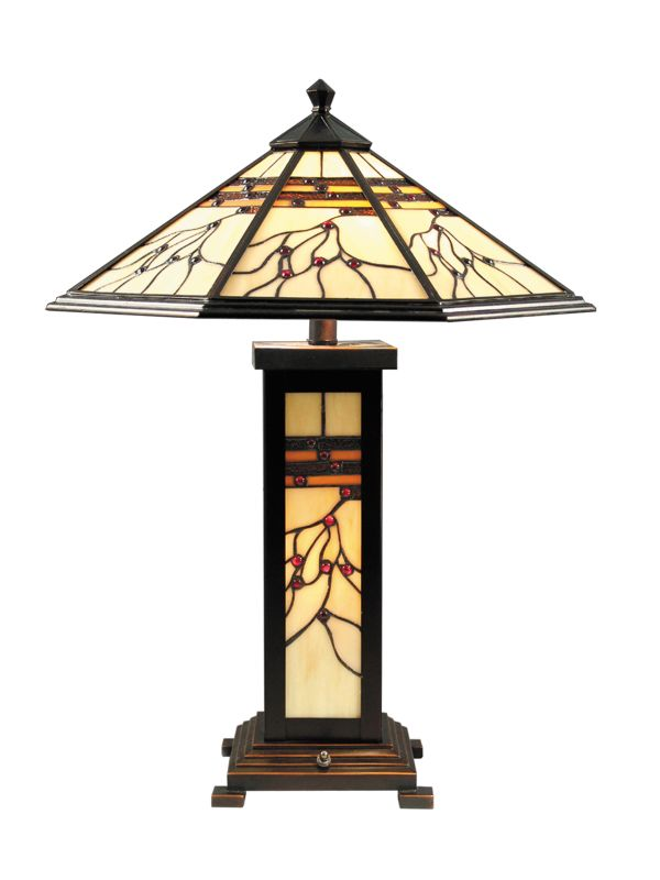 Dale Tiffany TT70331 Mission Hills Table Lamp Antique Golden Sand