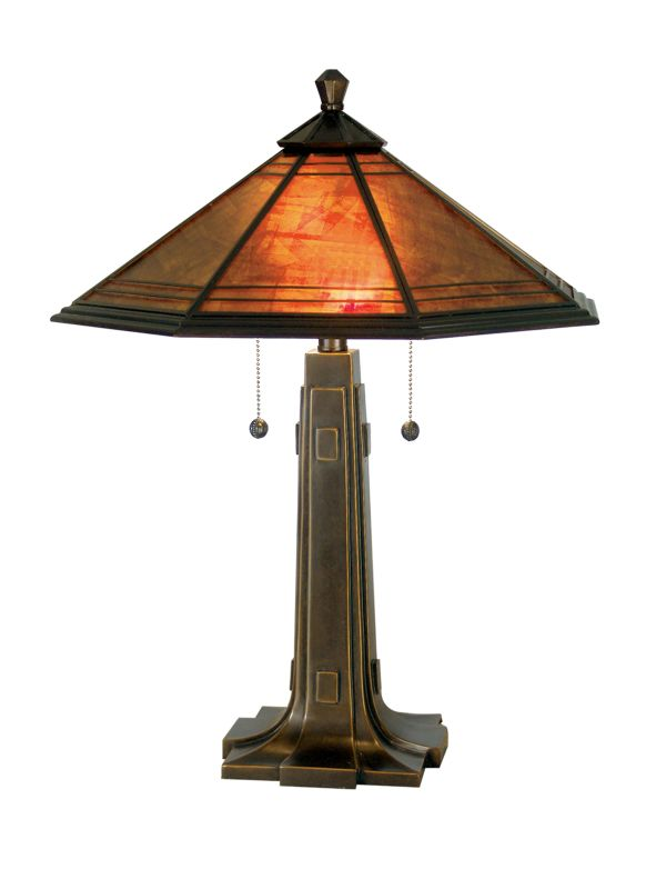 Dale Tiffany TT80172 Camillo Table Lamp with 2 Lights Antique Golden