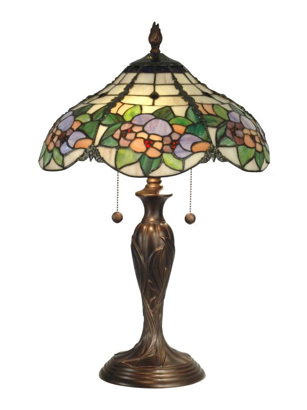 "Dale Tiffany TT90179 15.75"" x 23"" Chicago Table Lamp Antique Bronze"