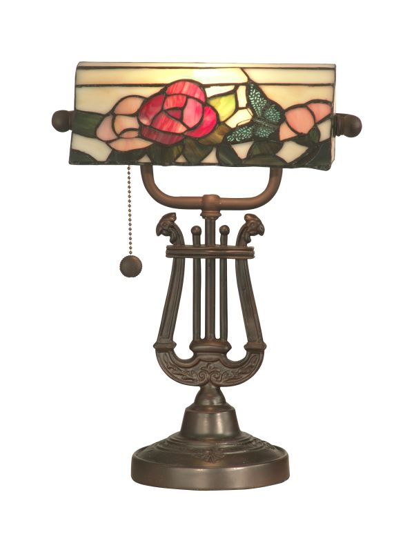 Dale Tiffany TT90186 Victorian 1 Light Broadview Bankers Desk Lamp