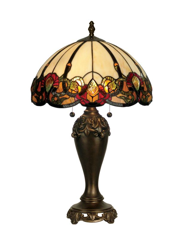 "Dale Tiffany TT90235 16"" x 27"" Northlake Table Lamp Dark Antique"