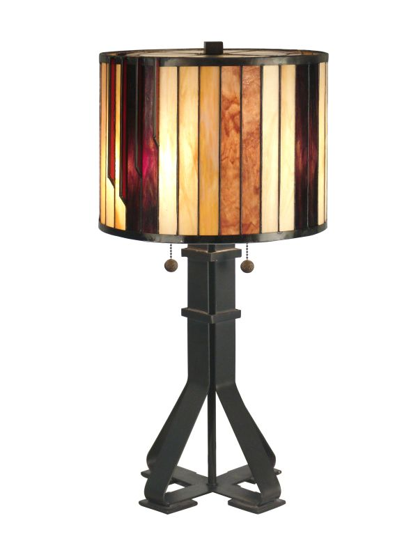 Dale Tiffany TT90273 2 Light Tiffany Table Lamp with Art Glass Shade