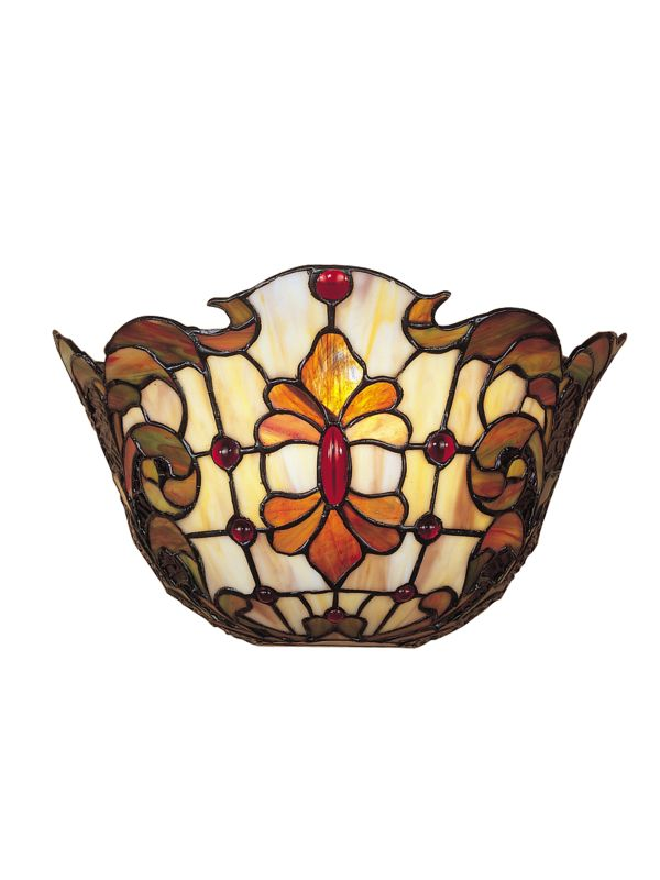 "Dale Tiffany TW100886 7"" Stained Glass / Tiffany One Light Wall Sconce"