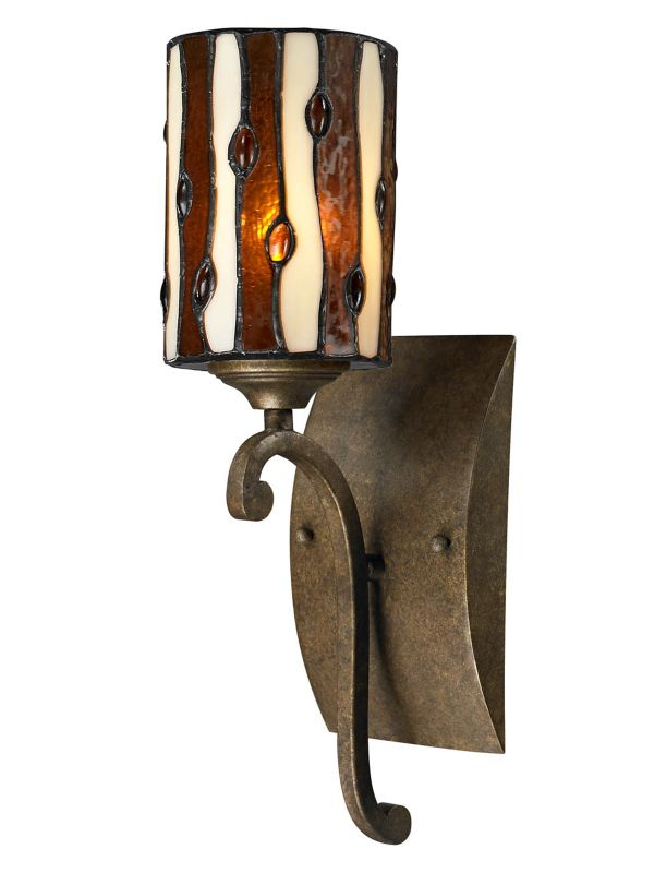 Dale Tiffany TW12442 Diamond Hill 1 Light Wall Sconce Antique Golden