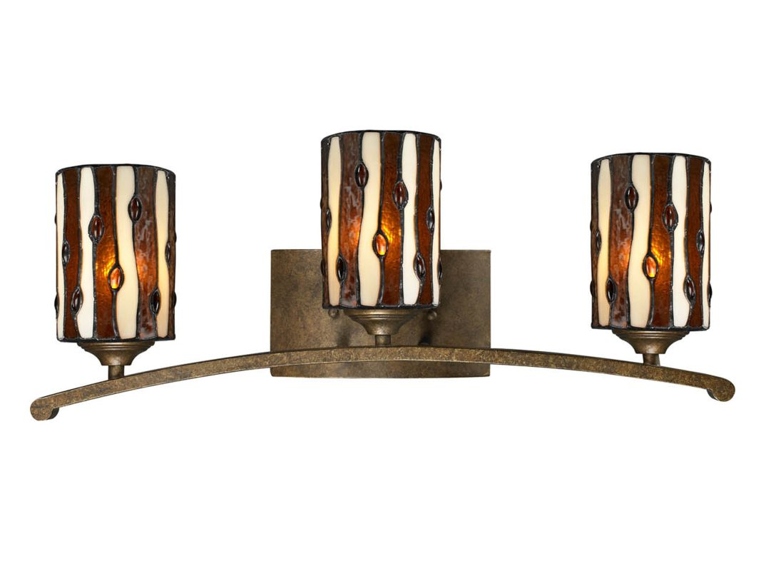 Dale Tiffany TW12444 Diamond Hill 3 Light Wall Sconce Antique Golden
