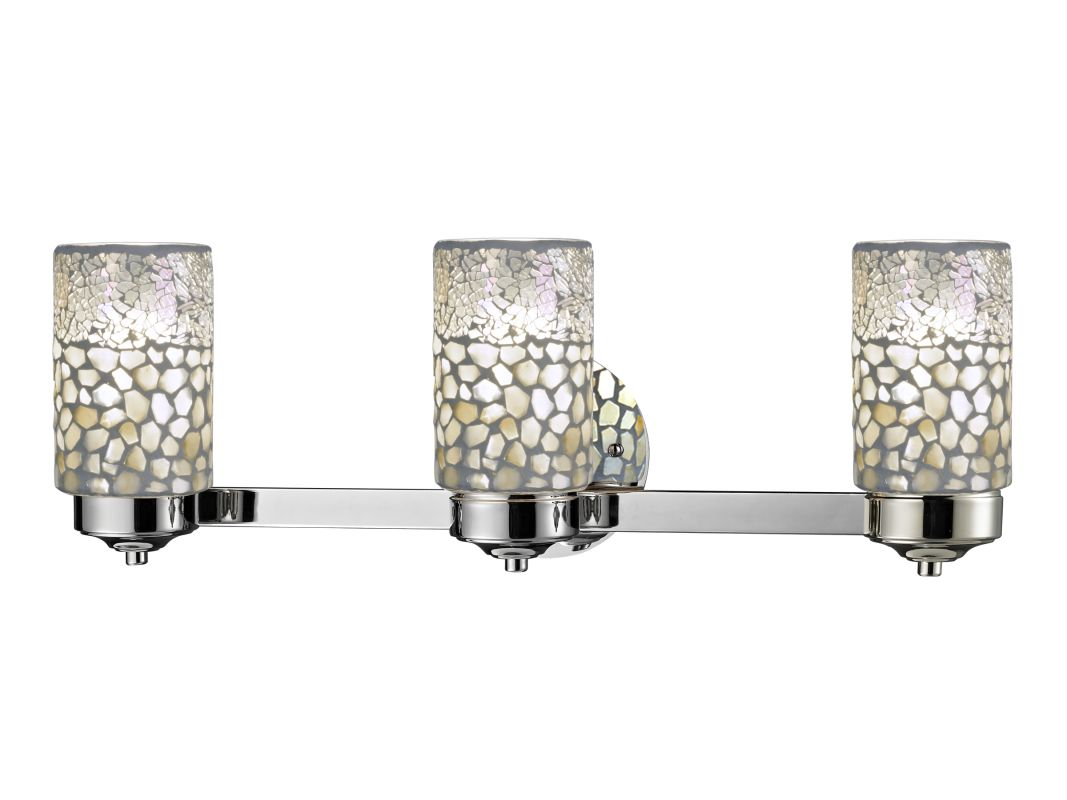 Dale Tiffany TW12468 Alps 3 Light Wall Sconce Brushed Nickel Indoor