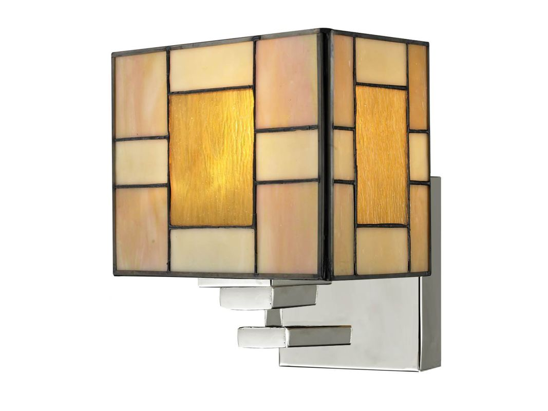 Dale Tiffany TW13016 Trovita 1 Light Wall Sconce Brushed Nickel Indoor