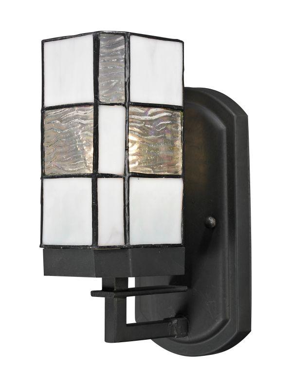 Dale Tiffany TW13019 Landis 1 Light Wall Sconce Matte Coffee Black
