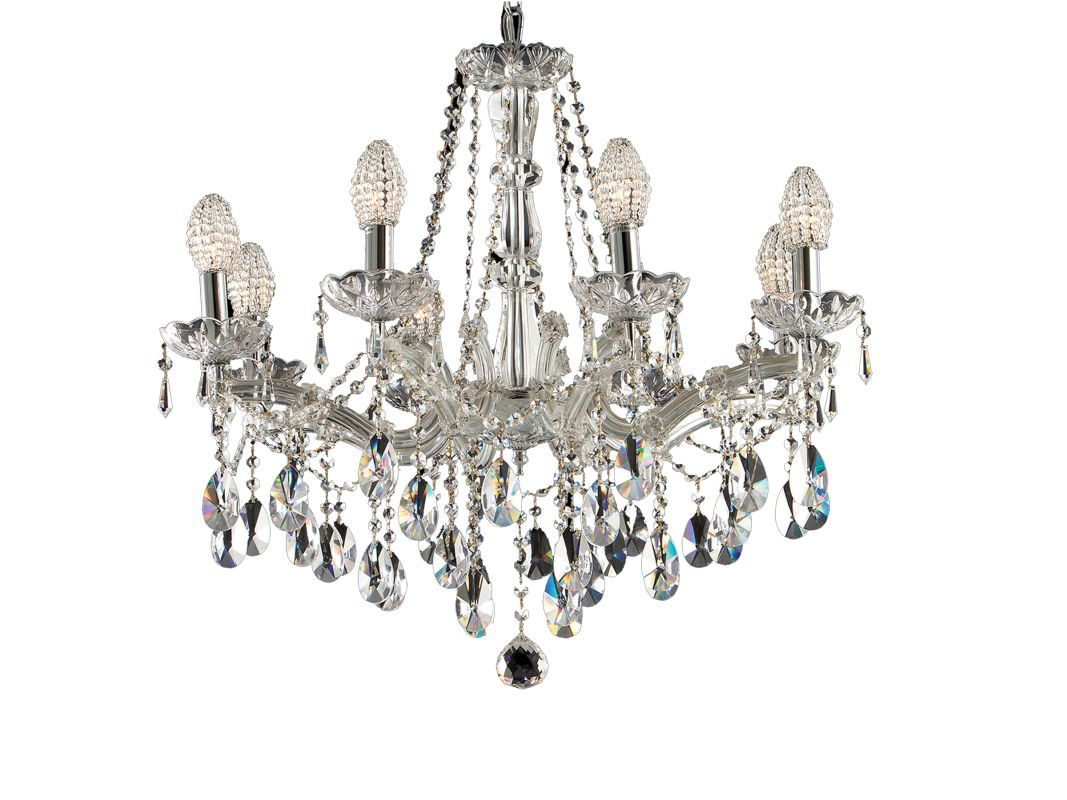 Dale Tiffany GH70261 8 Light Crystal Strasbourg Chandelier Polished Sale $1189.99 ITEM: bci1677718 ID#:GH70261 UPC: 20258069253 :
