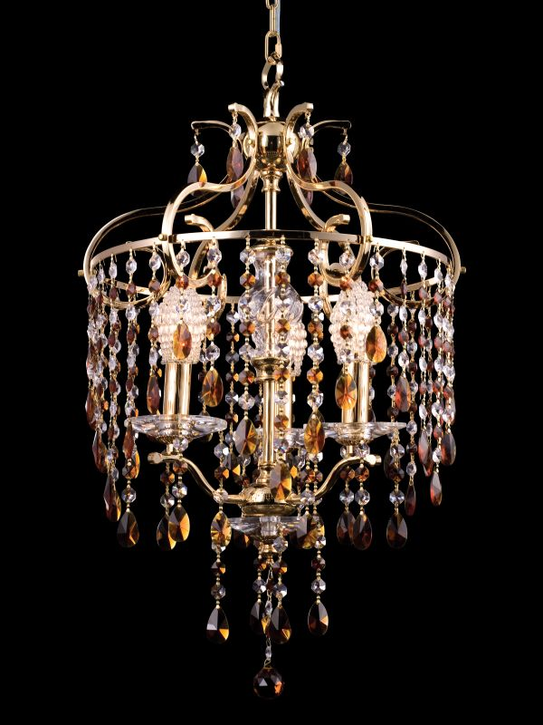 "Dale Tiffany GH80300 16"" x 26"" Champagne Chandelier Gold Indoor"
