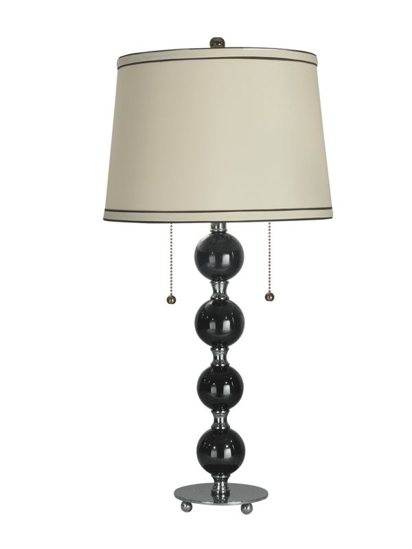 """Dale Tiffany GT70032 29"""" Torrevieja Lamp with 2 Lights Black Nickel"""