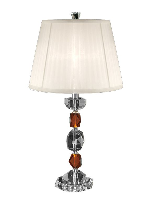 """Dale Tiffany GT80240 14"""" x 27.25"""" Crystal Table Lamp Brushed Nickel"""
