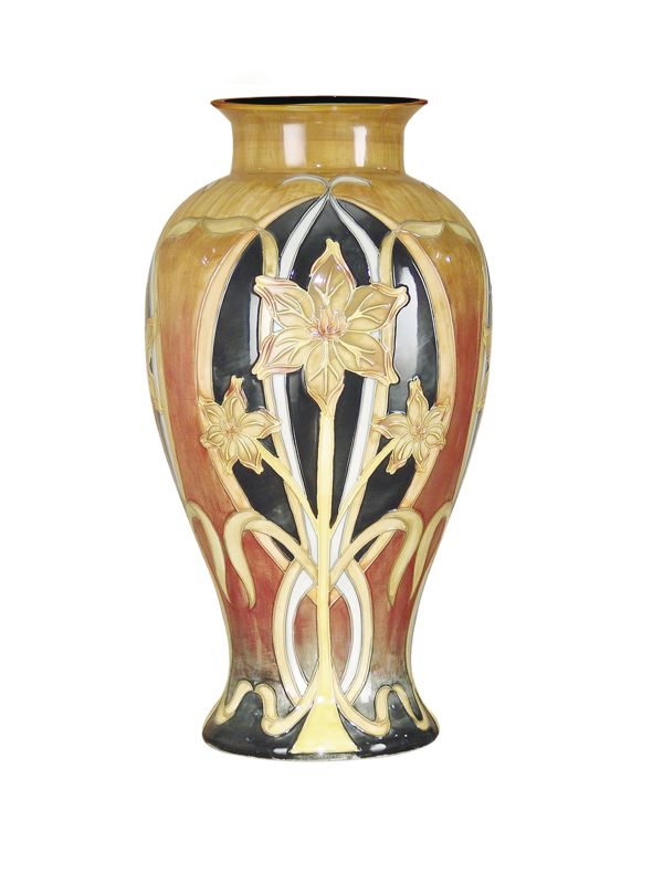 Dale Tiffany PA500197 Porcelain Pasque Flower Vase Gold / Black Home