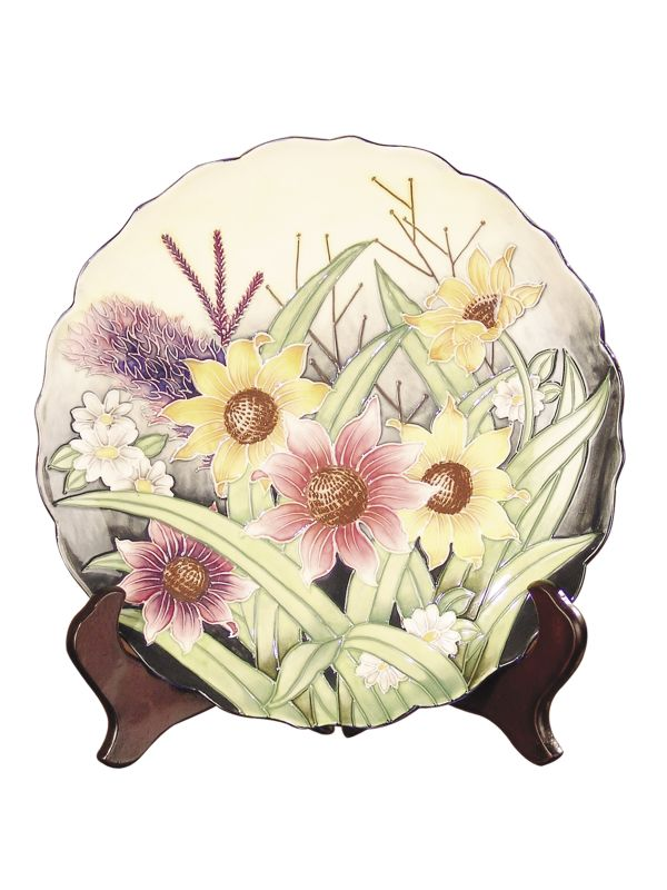 Dale Tiffany PA500210 Porcelain English Garden Decorative Plate Ivory