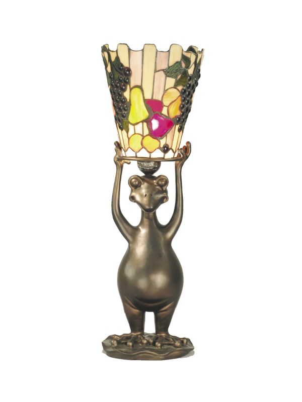 Dale Tiffany TA50021 1 Light Frog / Fruit Accent Lamp with Art Glass