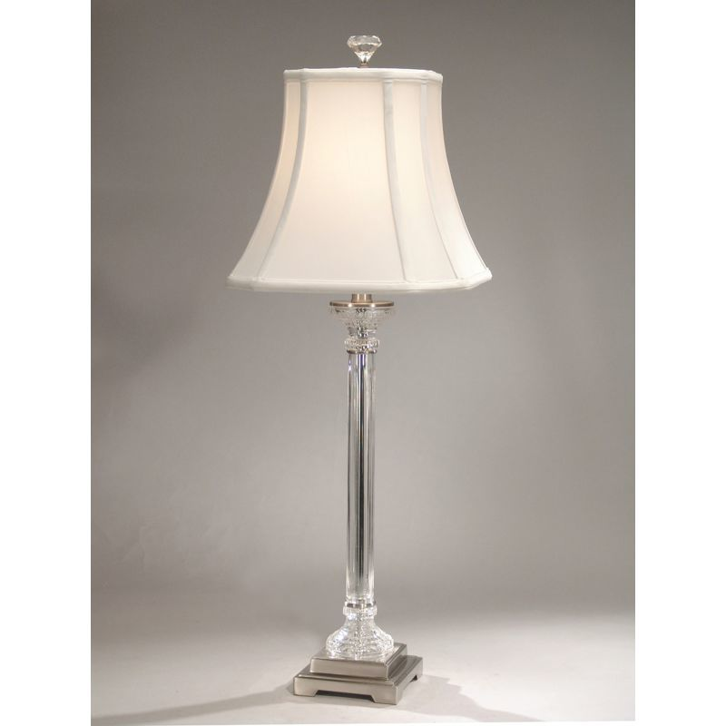 "Dale Tiffany GB60640 33.5"" Scala 1 Light Buffet Lamp with Fabric Shade"