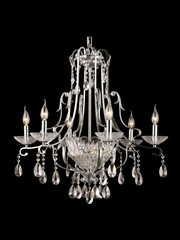 Dale Tiffany GH90092 8 Light Oxford Chandelier Polished Chrome Indoor