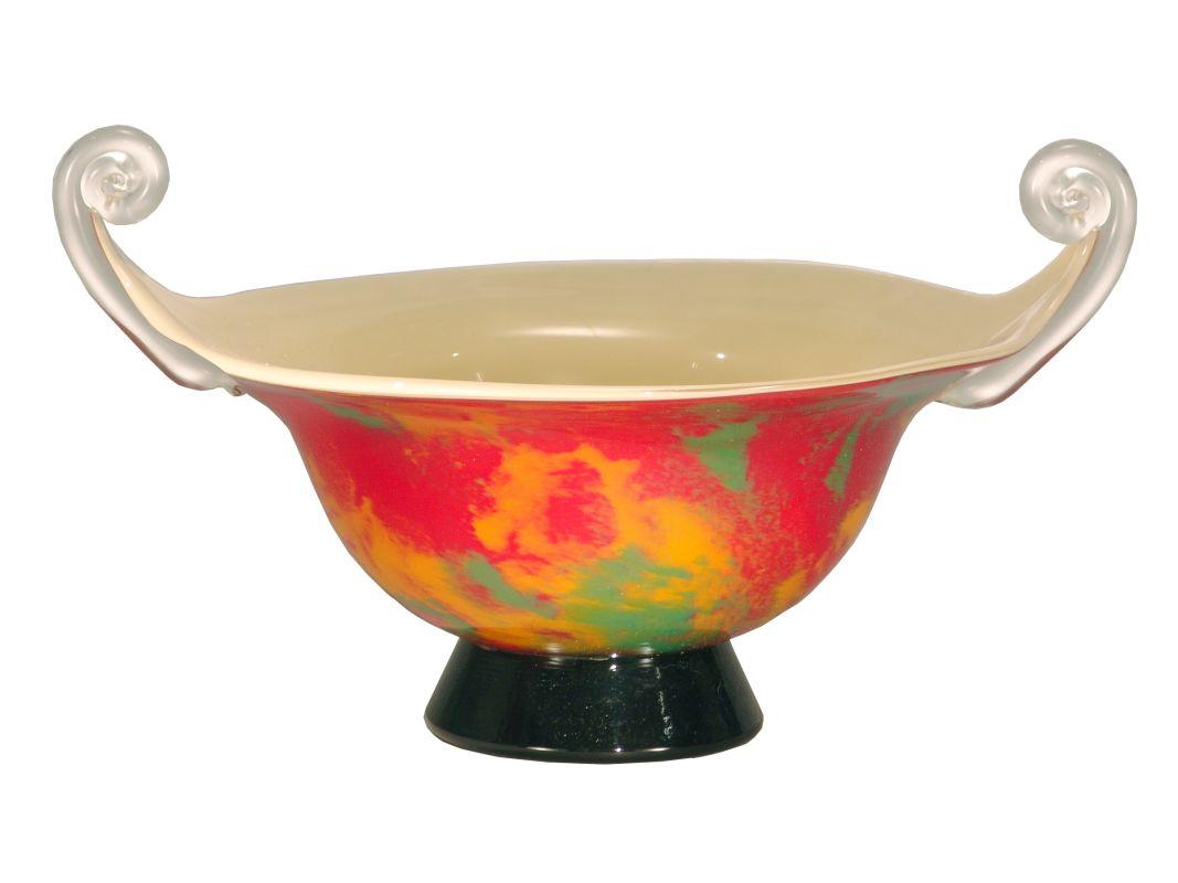Dale Tiffany PG50067 Retro Orange Burst Bowl Pink / Yellow Home Decor