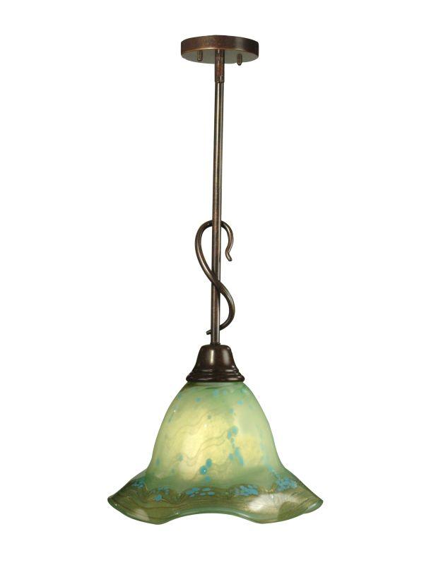 "Dale Tiffany PG80392 11"" x 44"" Serene Full Sized Pendant Antique Brass"