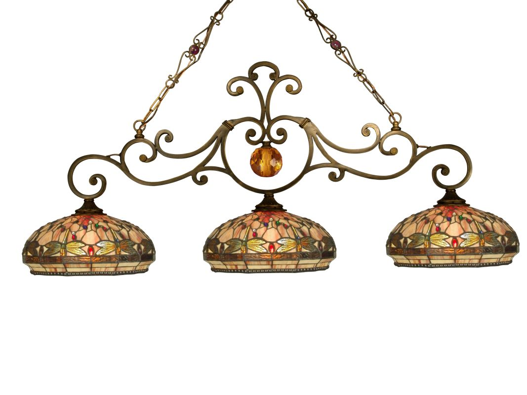 Dale Tiffany TH10100 Victorian 3 Light Dragonfly Island Fixture with Sale $899.99 ITEM: bci1677821 ID#:TH10100 UPC: 20258096129 :