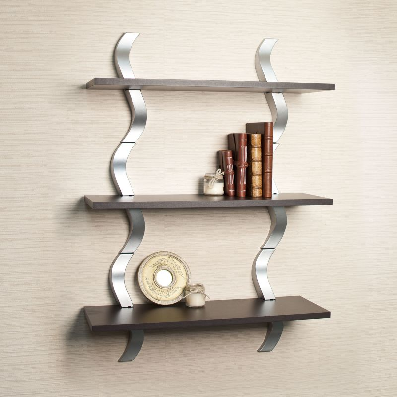 Danya B WLA01 40 X 27.5 Decorative Contemporary 3 Tier Wall Shelf