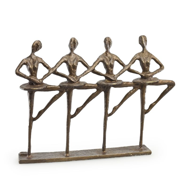 Danya B ZD13129 Bronze Ballerinas Figurine Bronze Home Decor Statues &