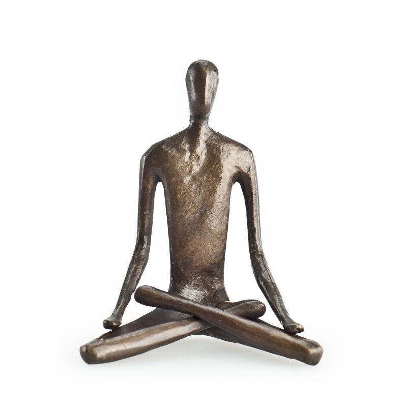 Danya B ZD5793 Bronze Yoga Lotus Figurine Bronze Home Decor Statues &
