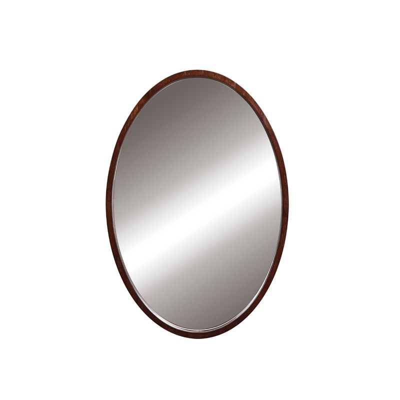"""DecoLav 9716 Lola 22"""" Oval Wall Mirror with Solid Wood Frame Dark"""