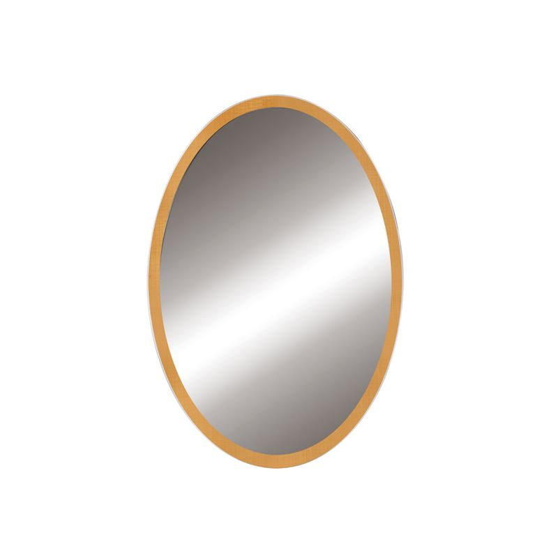 """DecoLav 9716 Lola 22"""" Oval Wall Mirror with Solid Wood Frame Maple"""