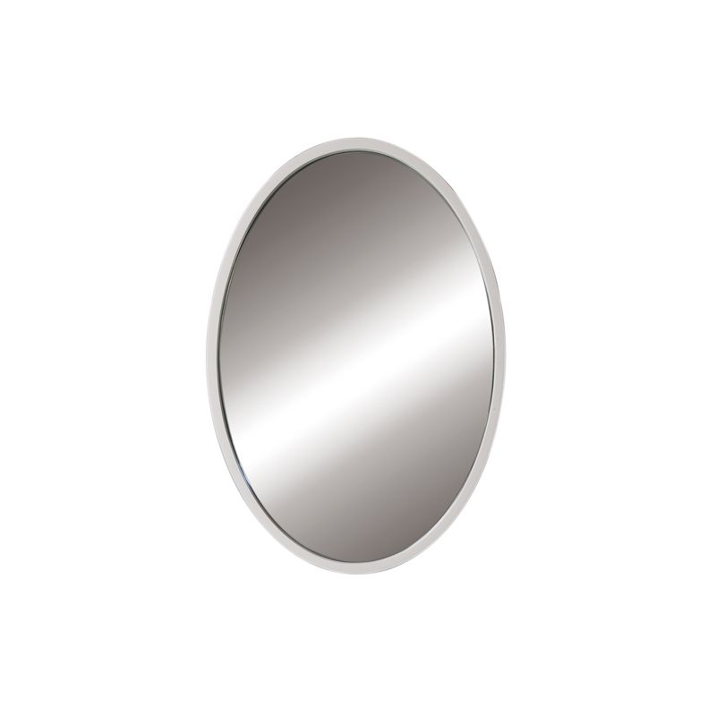 "DecoLav 9716 Lola 22"" Oval Wall Mirror with Solid Wood Frame White"