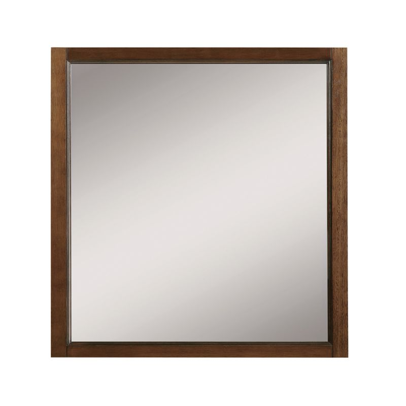 """DecoLav 9710 Jordan 30"""" Square Wall Mirror with Solid Wood Frame"""
