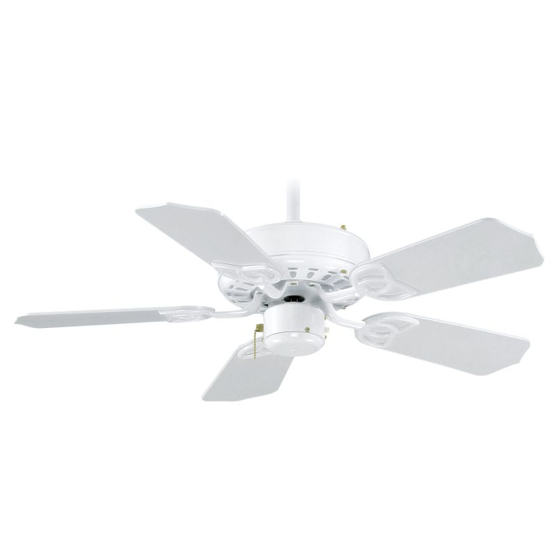 """Delacora DF-4501 30"""" Indoor Ceiling Fan - Includes 5 MDF Blades and 4"""" Sale $99.95 ITEM: bci2927282 ID#:DF-4501WH :"""