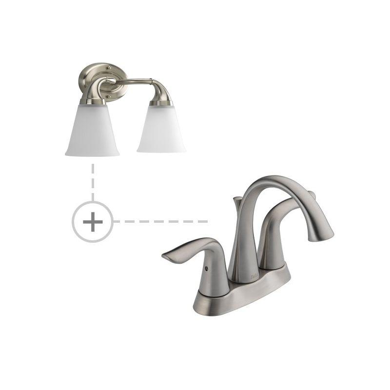 Delta 2538-MPU-DST.P2759 Lahara Centerset Bathroom Faucet with Diamond