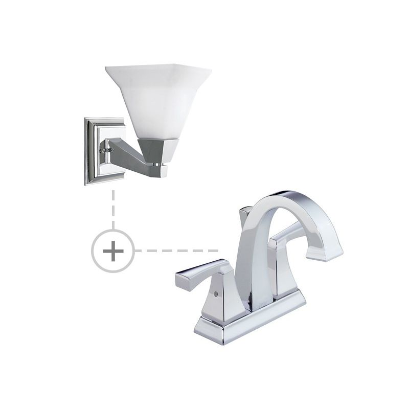 Delta 2551-MPU-DST.P3135 Dryden Centerset Bathroom Faucet with Diamond