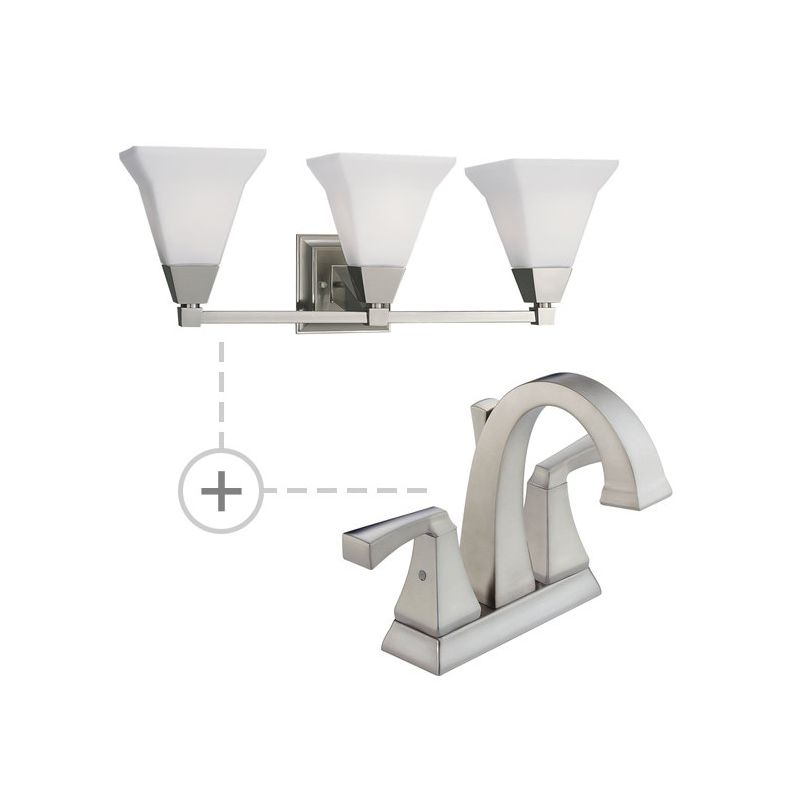 Delta 2551-MPU-DST.P3137 Dryden Centerset Bathroom Faucet with Diamond